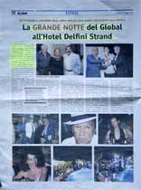 La Grande Notte del Global all'Hotel Delfini Strand