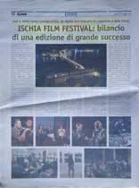 ISCHIA FILM FESTIVAL: bilancio di una edizione di grande successo
