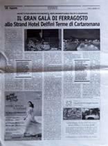 IL GRAN GALA DI FERRAGOSTO allo Strend Hotel Delfini Terme di Cartaromana