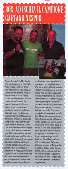 Box: Ad Ischia il campione Gaetano Nespro
