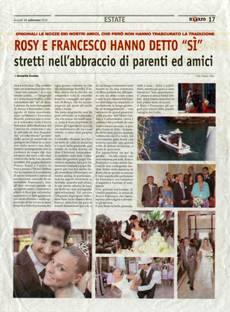 """Rosy e Francesco hanno detto """"Sì"""""""
