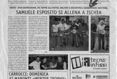 Samuele Esposito si allena a Ischia